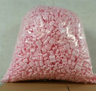 Packing Peanuts Loose Fill 60 Gallons 8 Cubic Ft Anti-static - Pink