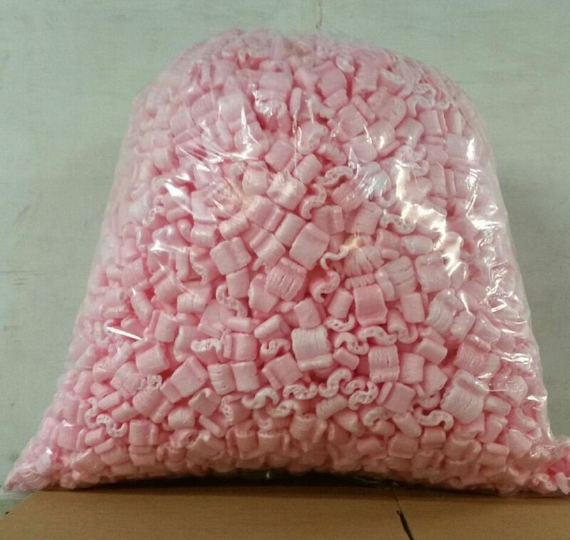 Packing Peanuts Loose Fill 60 Gallons = 8 cubic Ft Anti-Static - Pink