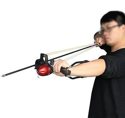 New Freshwater Fishing Reels Slingshot Bow Arrow Rest Catapult Hunting Slingbow