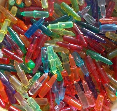 Vintage 1980's - 90's Lite Brite Pegs 7/8 Inch Bag of 100 Mixed Colors