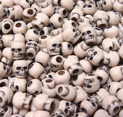 Dark Ivory color Skulls Pony Beads halloween crafts paracord jewelry making](Halloween Making)