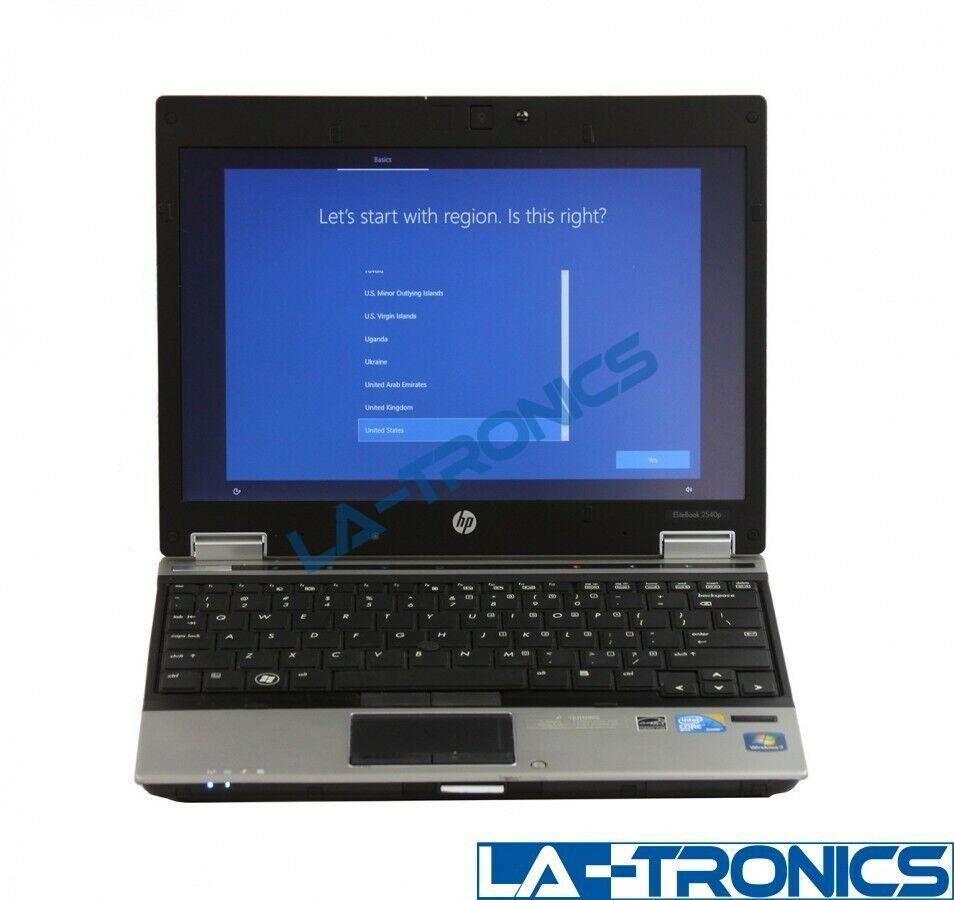 "HP EliteBook 2540p 14"" i7-640LM 2.13GHz 4GB RAM 160GB HDD Windows 10 Laptop"