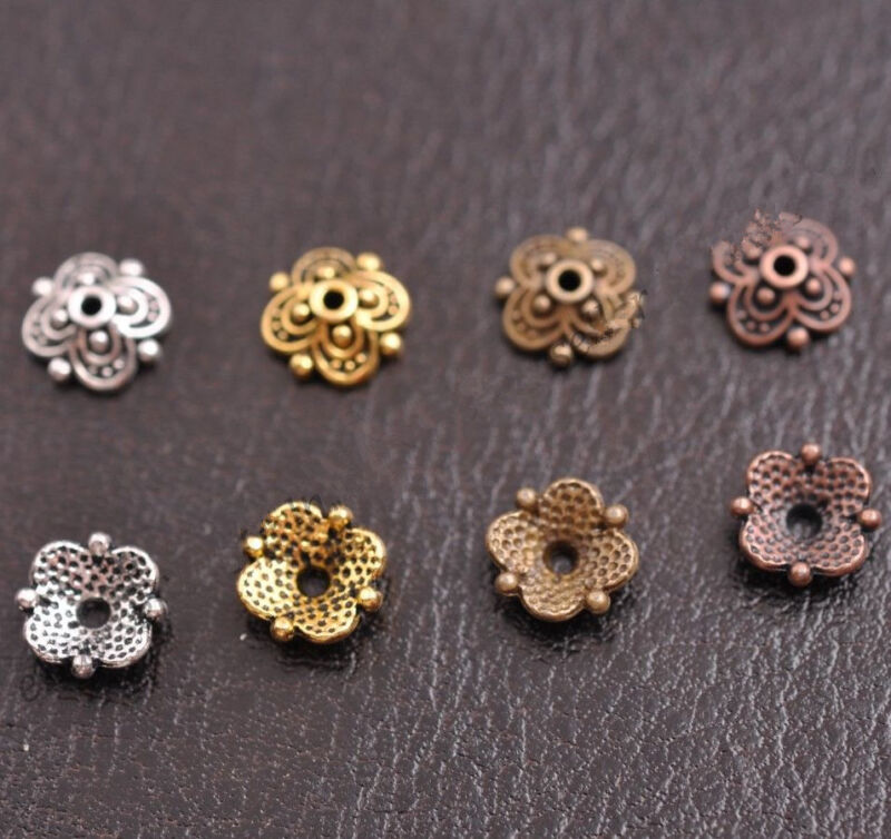 50//100Pcs Tibetan Silver Gold Bronze Round Charms Spacer Beads 6MM D3024
