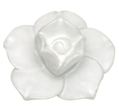 Cabinet Hardware Large Flower Knob - Atlas Homewares Cabinet Hardware Knob Ceramic White Flower D Pull Large