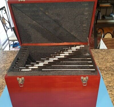 Starrett 436 0-12 Inch Micrometer Set Wood Box 436.1 Standards