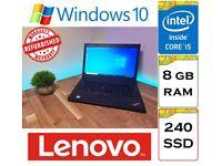 REFURBISHED - Lenovo Thinkpad L460 Laptop - Intel Core i5-6200u 8gb Ram 240gb SSD Windows 10 Laptop