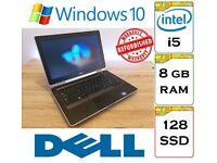 REFURBISHED - Dell Latitude E6320 Intel Core i5 8gb Ram 128gb SSD Windows 10 Laptop