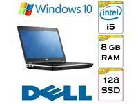 VERY QUICK Dell Latitude e6440 i5 2.6 Ghz 8gb Ram 128gb Solid State Drive Windows 10 Laptop