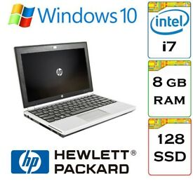 EXTREMELY QUICK - HP Elitebook 2170p i7 8gb Ram 128gb SSD Windows 10 11.6inch ultra-portable Laptop