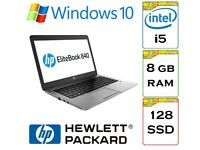 VERY QUICK - HP Elitebook 840 i5 8gb Ram 128gb Solid State Drive Windows 10 Pro Laptop / Ultrabook.