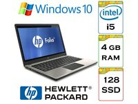 EXCELLENT - HP Elitebook Folio 13 i5 4gb Ram 128gb SSD Windows 10 13.3 inch Laptop