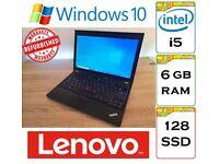REFURBISHED - Lenovo Thinkpad x220 i5 6gb DDR3 Ram 128gb SSD Windows 10 12.5 inch Laptop - Dell HP