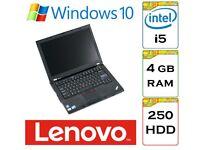 BARGAIN - Lenovo Thinkpad T410 i5 2.5Ghz 4gb Ram 320gb HDD Windows 10 Pro Laptop.