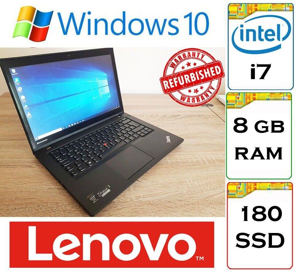 Lenovo Thinkpad T440 Touchscreen i7-4600u 8gb Ram 180gb SSD Windows 10  Laptop Ultrabook   in Thornliebank, Glasgow   Gumtree