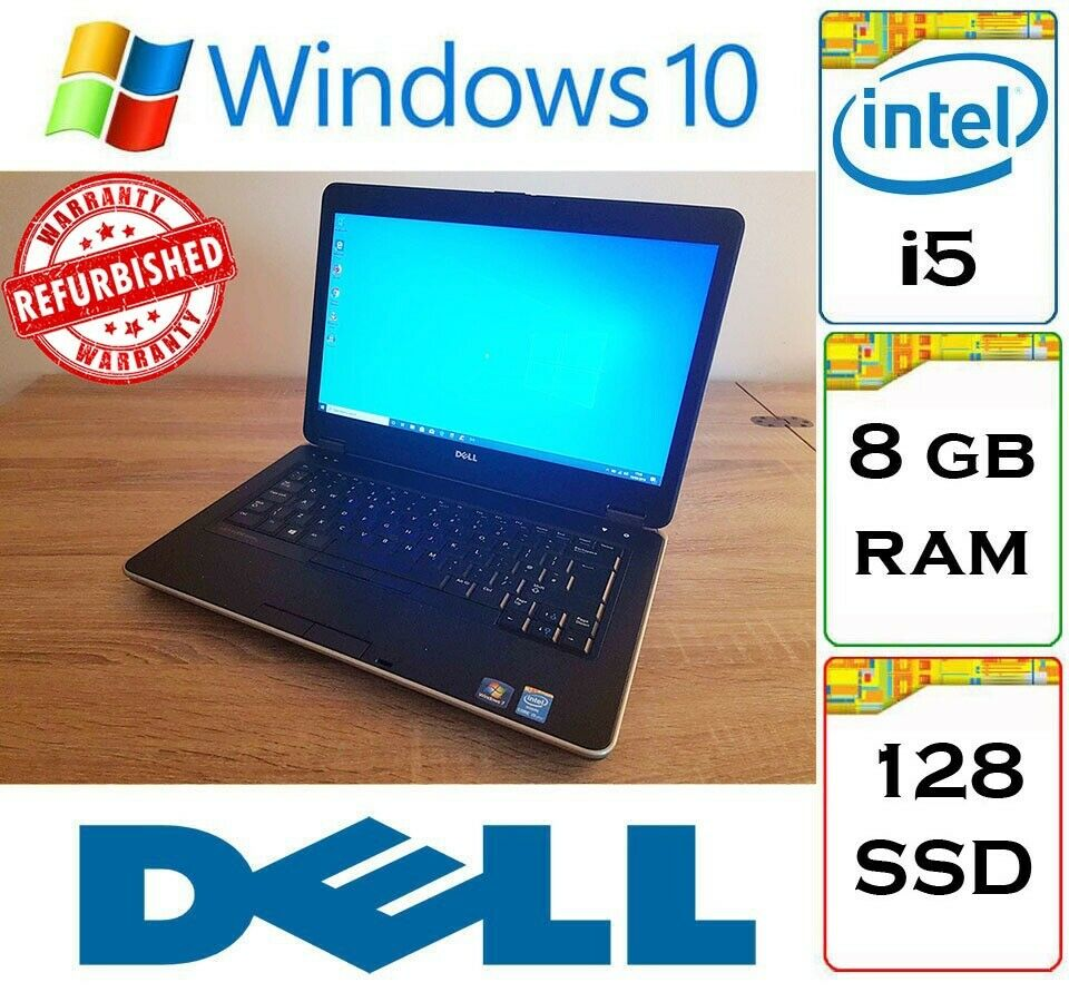 QUICK - Dell Latitude E6440 Core i5 / 8gb Ram / 128gb SSD / Windows 10 Pro  Laptop   in Thornliebank, Glasgow   Gumtree