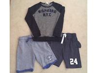 Boys bundle - shorts & sweatshirt 9-10-11-12