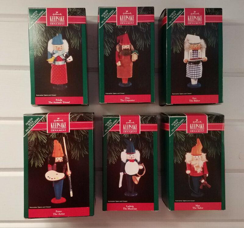 Hallmark Ornament North Pole Nutcrackers - 1992. Set of 6 Brand New ornaments