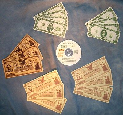 Replica Movie Prop Money on CD - Print your Own!! SASS TCA