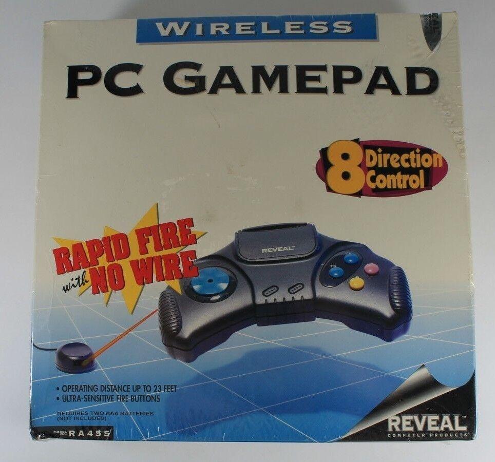 Vintage Reveal Wireless PC Gamepad Model: RA455 - NEW - Still Sealed