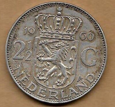 2 1/2 gulden argent 1960