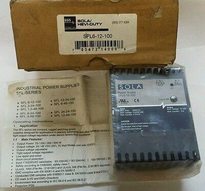 New Sola Sfl6-12-100. Heavy Duty 110v220v--12v 6 Amp Power Supply