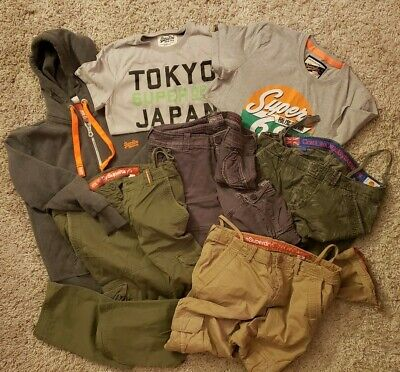 Superdry Clothes Lot size L and XL