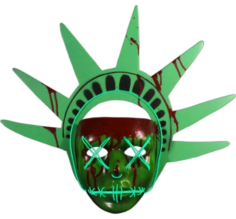 Trick or Treat - Purge Election Year Lady Liberty Light-up Mask