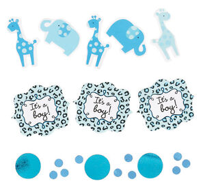 details about sweet safari boy blue baby shower confetti elephant