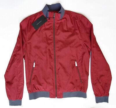 Zara Men Lightweight Polyester Bomber Jacket Silky FeelMaroon/Red size L