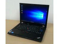 Lenovo ThinkPad T410 - Core i7 2.66GHz, 8GB RAM, 500 GB HDD, Webcam, Windows 10