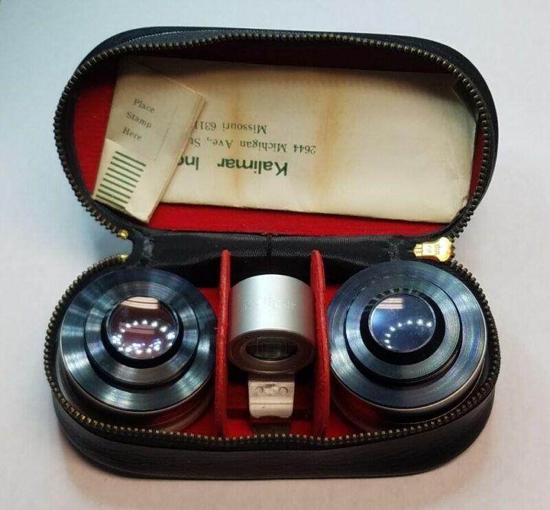 Vintage Kaligar Aux Wide Angle & Telephoto Lens Viewfinder for Kodak Instamatic