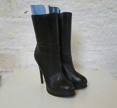 Ladies Medium Height Thin Heeled Black Kelsi Dagger Boots 10