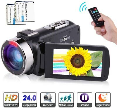 Digital Video 24MP Camera 2.7K Camcorder Microphone WiFi Night Vision Vlogging