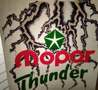 Vintage Retro Mopar Thunder Heat Press Transfer Lot Of 3