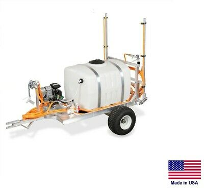 Sprayer Commercial - 2 Wheel Trailer - 6 Gpm - 290 Psi - 12 Ft Boom - 100 Gallon