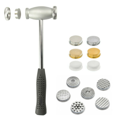 "9.5"" Jewelers Hammer Dual Head Hammer with 12 Interchangeable Heads"