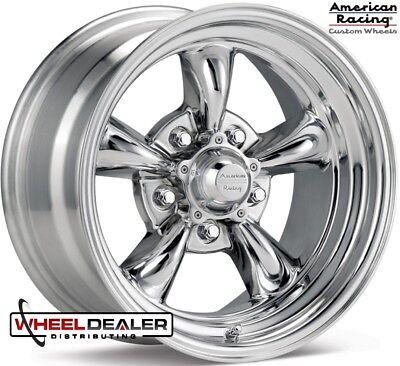"14/"" Torq Thrust II VN515 Polished Classic Wheel 14x7 5x4.75 0mm Chevy 5 Lug Rim"