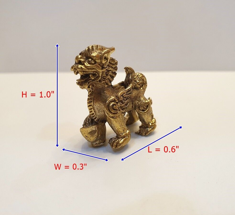 Brass Lucky Amulet Wasp Figurine Mini Charm Rich Wealth Vintage Collect Statue