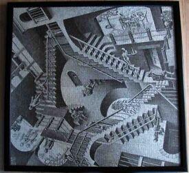 Jigsaw Puzzle Framed. Escher 'Stairs'