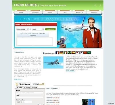 Cheap Hotel Search and Language Learning Affiliate Business website for - Cheap Websites