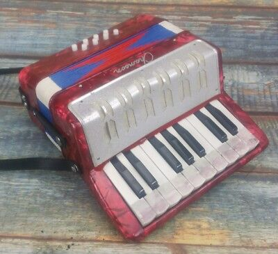 "9"" Chanson Accordion Red Mini"