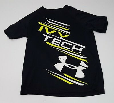 Under Armour Size Small Ivy Tech Black Graphic Tshirt
