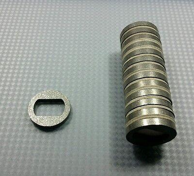 10 Neodymium Ring Magnets. Diametric Poles. N45 Grade Rare Earth