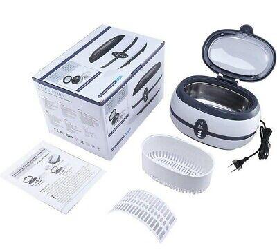 Limpiador ultrasonidos ultrasonico 600ml,35W,joya,reloj,gafas,soporte,acero inox