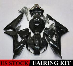 Complete Fairing Kit for Honda CBR1000RR 2006 2007 Glossy Black Plastic Bodywork
