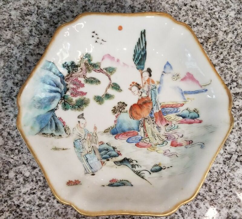Signed Antique/Vintage Chinese Footed Bowl Tongzhi Nian Zhi 19th-20th century