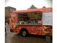 (Burger, fish&chips and ice cream) van+Pitch! All in one! Best fast money maker ever!