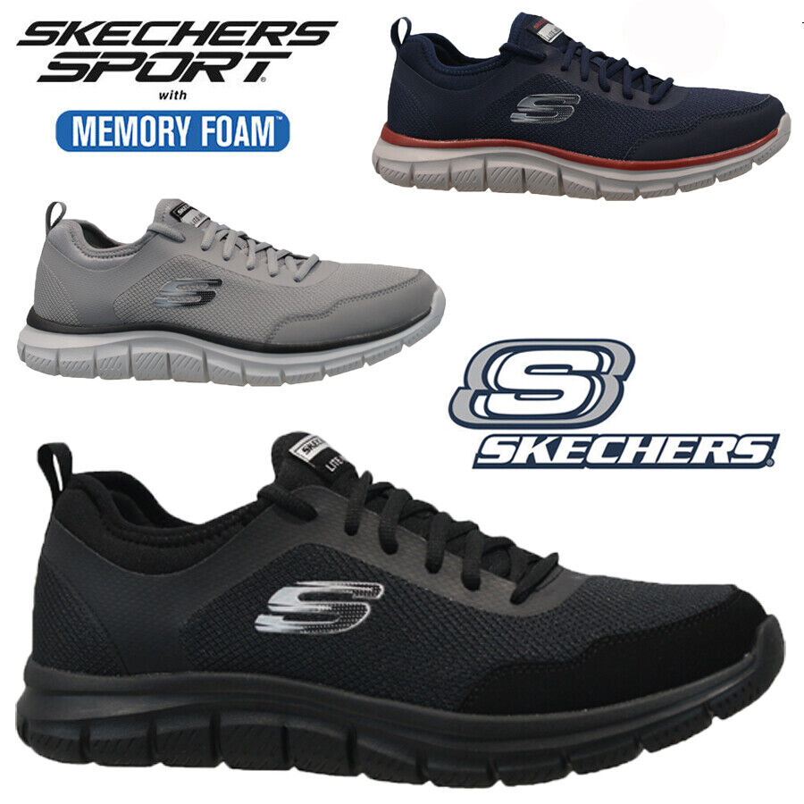 relaxed fit with memory foam skechers