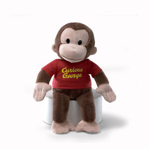 Curious-George-Plush-Doll-in-Red-Shirt-by-GUND-8-Inches-NWT-Style-320693