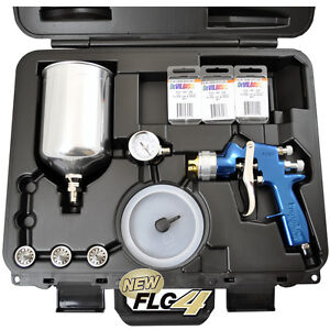 Devilbiss HVLP SPRAY PAINT GUN-FinishLine 4 MASTER KIT-1.3 1.5 1.8 2.2 Regulator